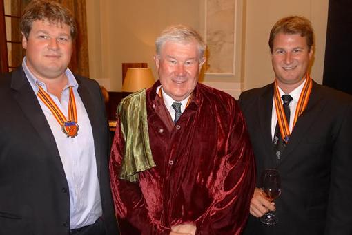 De Wet Number Three gets Commanderie de Bordeaux Membership photo