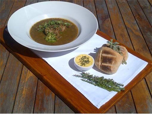 Chef Shaun's Recipe – Hearty Lamb, Lentil and Wild Rosemary Soup photo