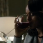 Drinking wine with Scandal`s Olivia Pope photo