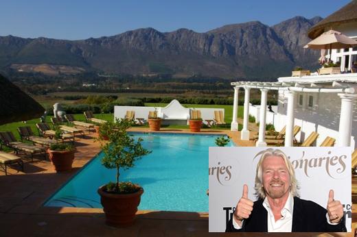 Richard Branson set to acquire Mont Rochelle in Franschhoek photo