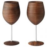 Sleek Wooden Glassware photo