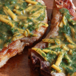 Honey Mustard Dilly Cheese Pork Chops photo