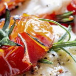Bacon Stuffed Baked Tomatoes with Brie Cheese photo