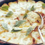 Chicken and tomato bake with melted brie photo