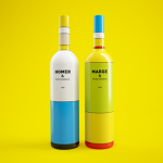 Colourful Simpsons wine bottles look just like Homer and Marge photo