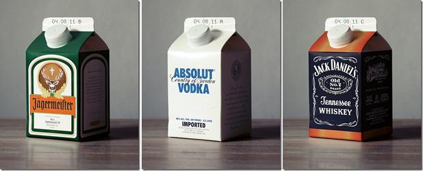 Packaging Spotlight: Liquor in milk cartons photo