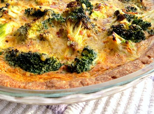 Mince and broccoli quiche photo