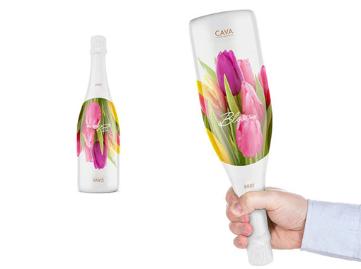 Blossom Cava`s Sparkling Wine Packaging Looks Like Fresh-Picked Flowers photo