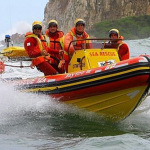 Swirl, sip and spit for sea rescue photo