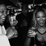 Beyonce ends pregnancy rumours by drinking champagne photo