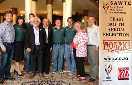 Mosaic Team South Africa rubs shoulders with the best wine tasters of the world photo