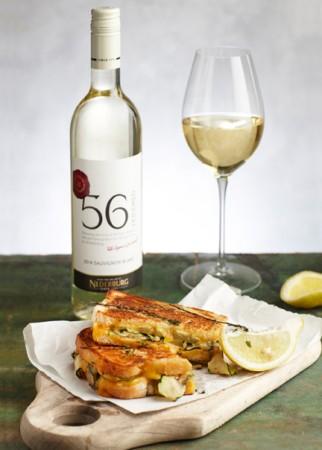 Nederburg 56Hundred Sauv Blanc 2014 zucchini and Gruyere sandwich LR e1418391017401 Nederburg wines to match your summer holiday