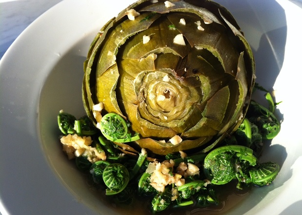 artichoke and fiddleheads 5 Vegetables That Are Impossible to Pair with Wine