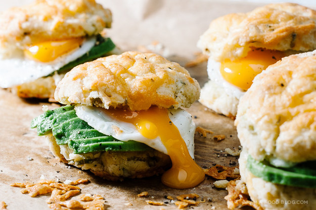 Cheddar and Green Onion Biscuit Breakfast photo