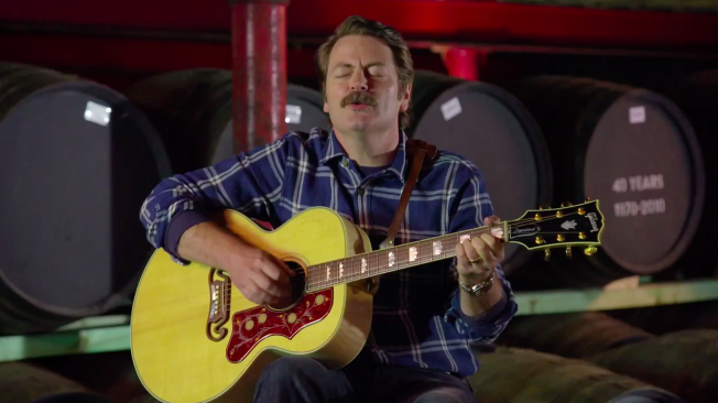 Nick Offerman of `Parks and Recreation` Sings a Ballad Dedicated to Whiskey photo