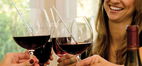 Worried about wine staining your teeth? Try Winestraws photo