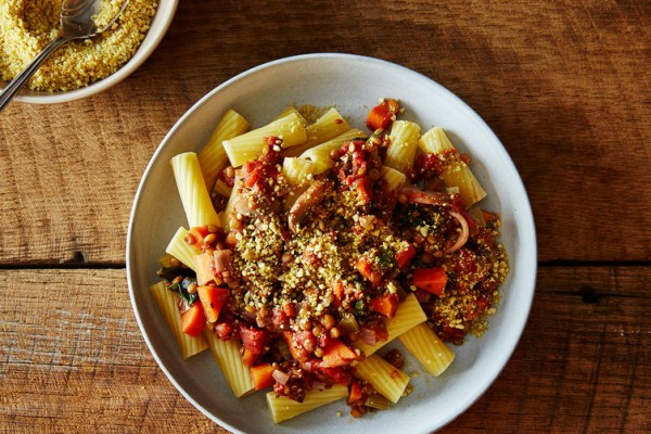 Lentil Bolognese with Cashew Parmesan photo