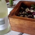 Fleur du Cap Natural Light Chenin Blanc paired with a nutritious salad photo