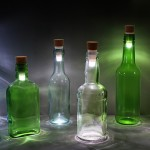 This LED Bottle Cork Turns Empty Bottles Into Lamps photo