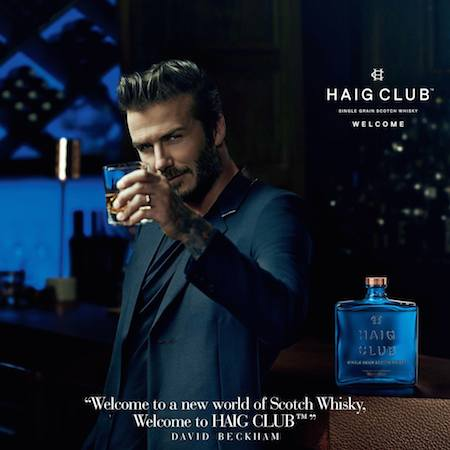 Taste-testing Haig Club single grain Scotch whiskey with David Beckham photo