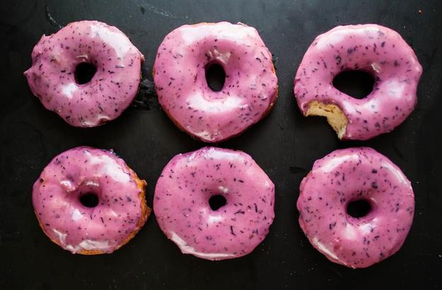 Bourbon Blueberry Basil Donuts photo