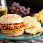 Slow Cooker Hawaiian BBQ Pulled Chicken Sandwiches photo