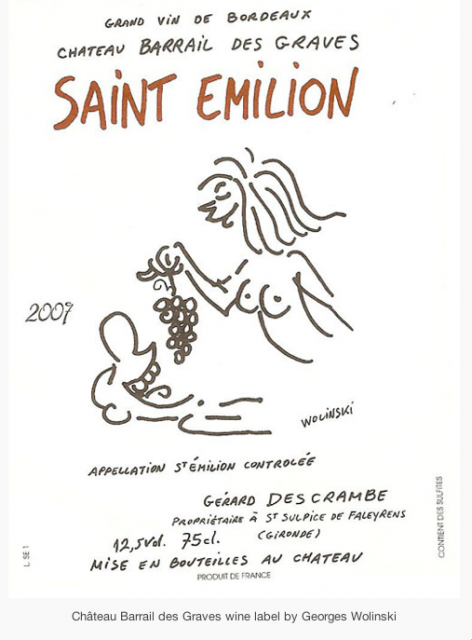 Hebdo Cartoonists designed wine labels photo