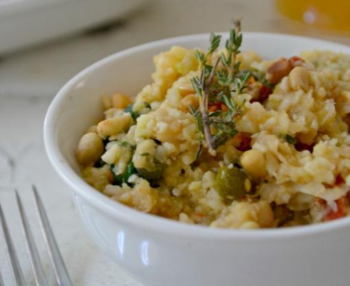"White Bean Cauliflower ""Risotto"" - winetimes.co"