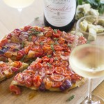 Tomato Tarte Tatin recipe and wine suggestion for summer photo