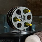 Vintage Film Reel Wine Rack photo