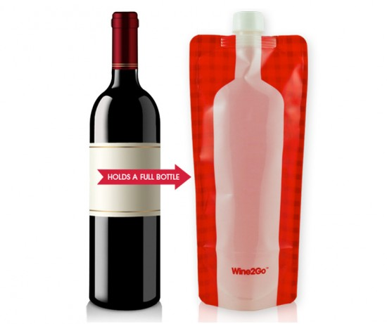 Foldable Wine Bottle Flask photo