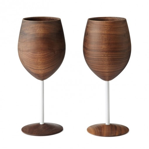 Wooden Wine Glasses photo