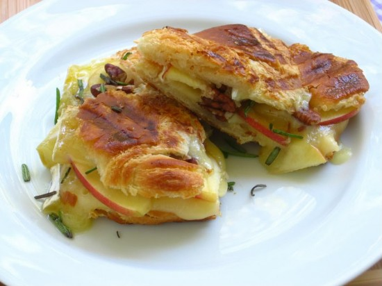 Grilled Onion, Apple and Brie Croissant photo