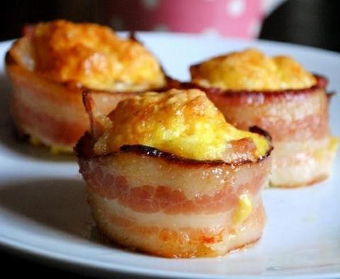 Bacon Wrapped Mini Omelets photo