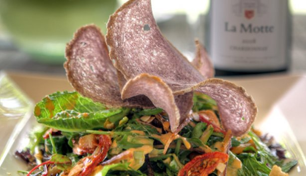 Cape Bokkom Salad and Pierneef Sauvignon Blanc for summer photo