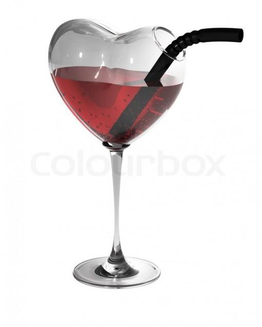 Heart Shaped Wine Glass photo