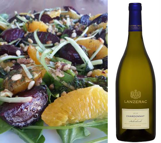 Lanzerac Chardonnay with Roasted Beetroot, Orange and Fennel Salad photo