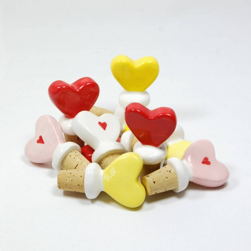 Ceramic Heart Wine Bottle Stoppers photo