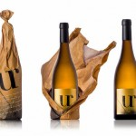 Wrinkled Brown Paper Bag Wine Packaging photo