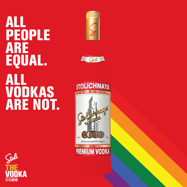 Stoli pours in support of the LGBT Community photo