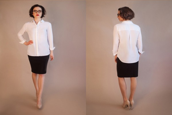 This unstainable white shirt can withstand coffee, wine and sweat photo