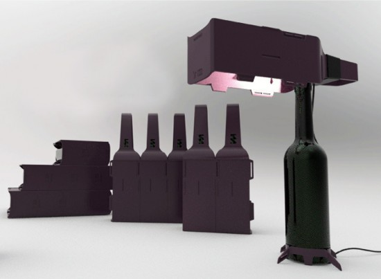A Wine Carrying Case That Transforms Into a Light Fixture or Even a Wall photo