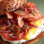 Smoked Salmon Breakfast Bagel photo
