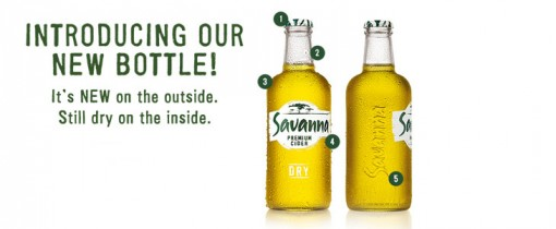 savananewbottle 510x210 Savanna gets a bold new look