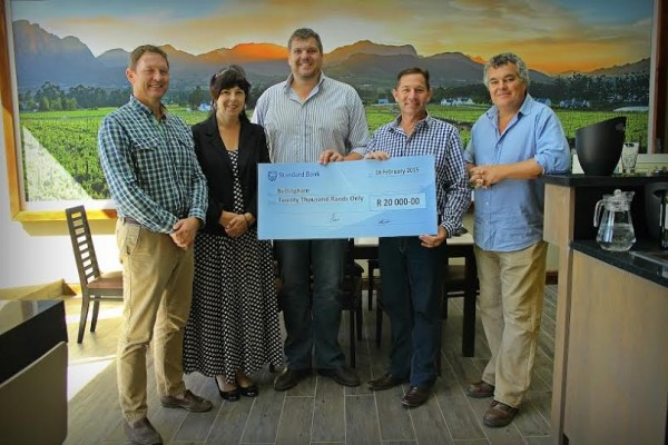 DGB Wines invest its winnings from inaugural Standard Bank/Chenin Blanc Challenge 2014 in mobile library project photo