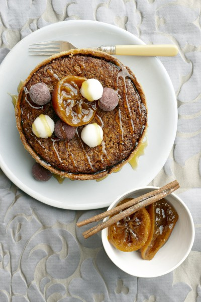 Citron tart in Citrus-season photo