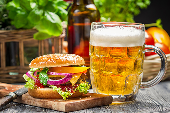 Why beer is a better drink to serve with food than wine photo