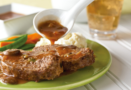 Feast for less: Meat Loaf with Creamy Onion Gravy photo