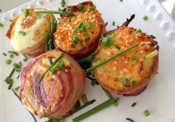 Gluten-free Sweet Potato Muffins wrapped in Bacon photo