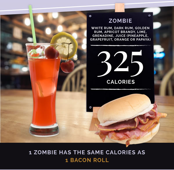 5zombie 15 Classic Cocktails With The Most Calories